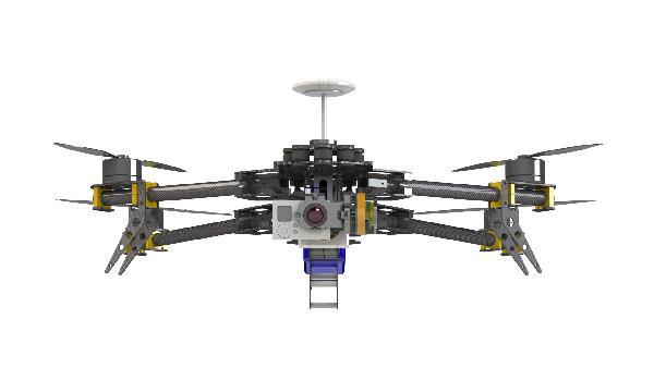 Alien Quad's Multirotor FPV Flyman Frame Kit W/ GoPro Gimbal