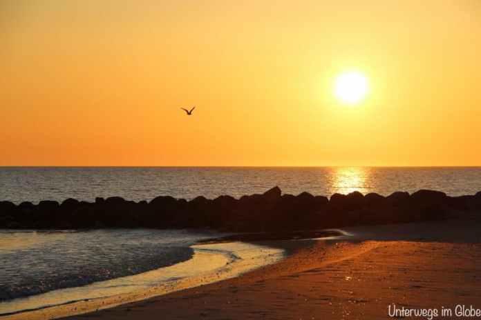 Sonnenuntergang am Meer #Wohnmobilreise