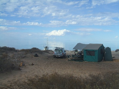 Our campsite at Herald Bight