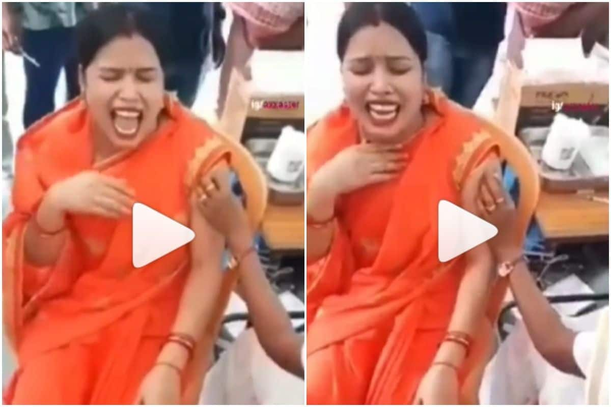 Viral Video: Woman Cries & Screams Like a Child After Getting Covid Vaccine, Netizens Call it
