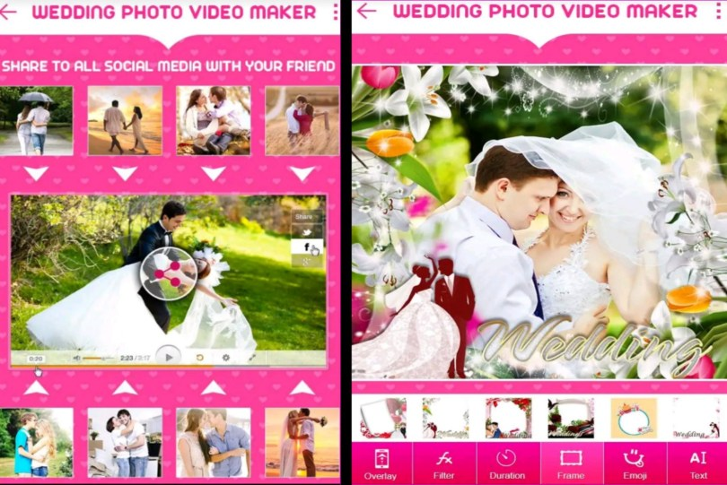 Wedding Photo To Video Maker With Music