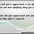 appreciation importance