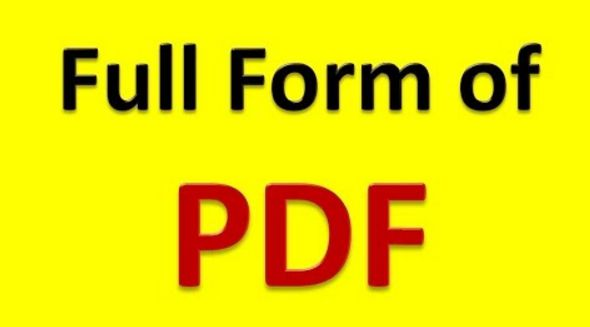 pdf full form in hindi
