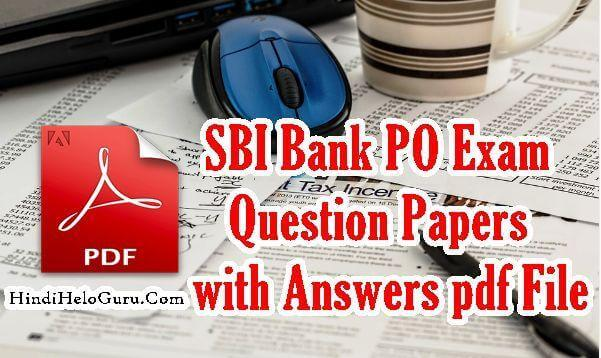 Exam po pdf papers question of sbi previous