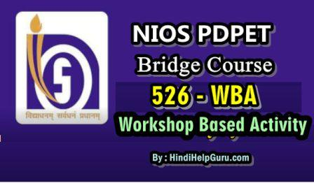 Bridge Course WBA 526