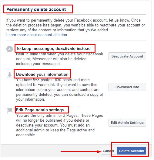 fb account ko permanently delete kaise kare in hindi