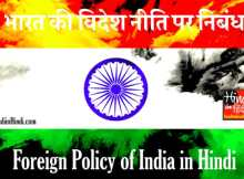hindiinhindi Foreign Policy of India in Hindi