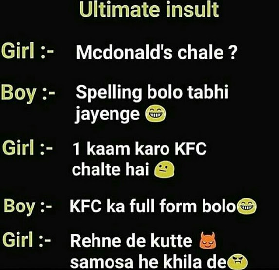 Insulting lines for girls