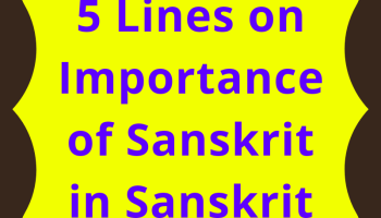 5 lines essay on importance of Sanskrit in Sanskrit