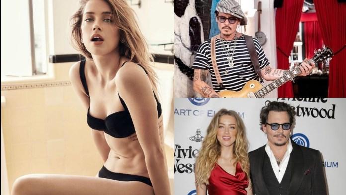 Johnny Depp with Amber Heard