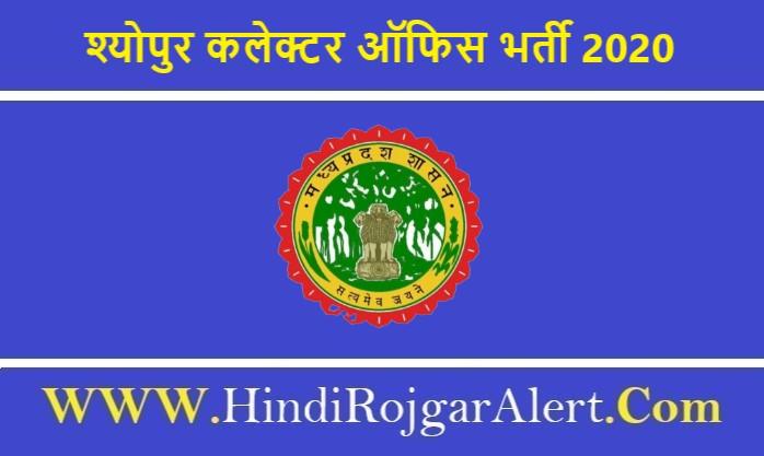 Collector Office Sheopur Recruitment 2020 श्योपुर कलेक्टर ऑफिस भर्ती 2020