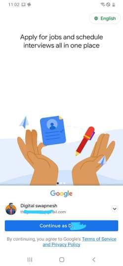 Google kormo jobs app account kaise banaye