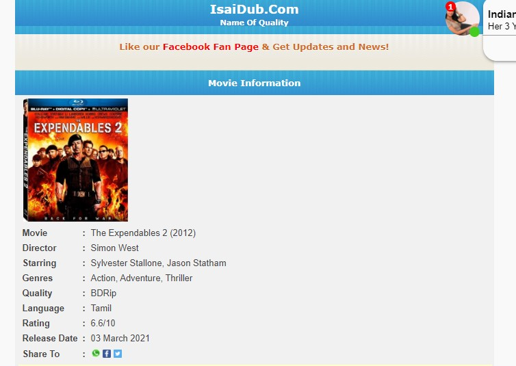 isaidub tamil movie download website