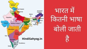 भारत में कुल कितनी भाषा बोली जाती है
