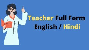Teacher Full Form in Hindi And English