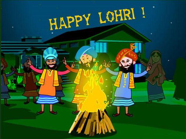 Wish Lohri with Happy Lohri Wallpapers