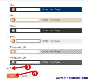 select off blogger navbar