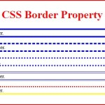 how to use css border property