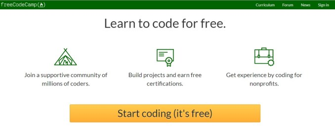 freecodeCamp a web design tutorial