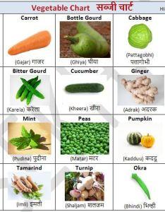 Free hindi charts for kids vegetables hinditeacheronline also rh