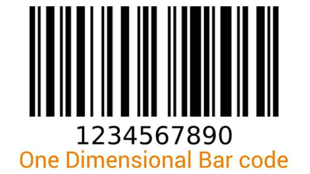 One Dimensional Bar Code