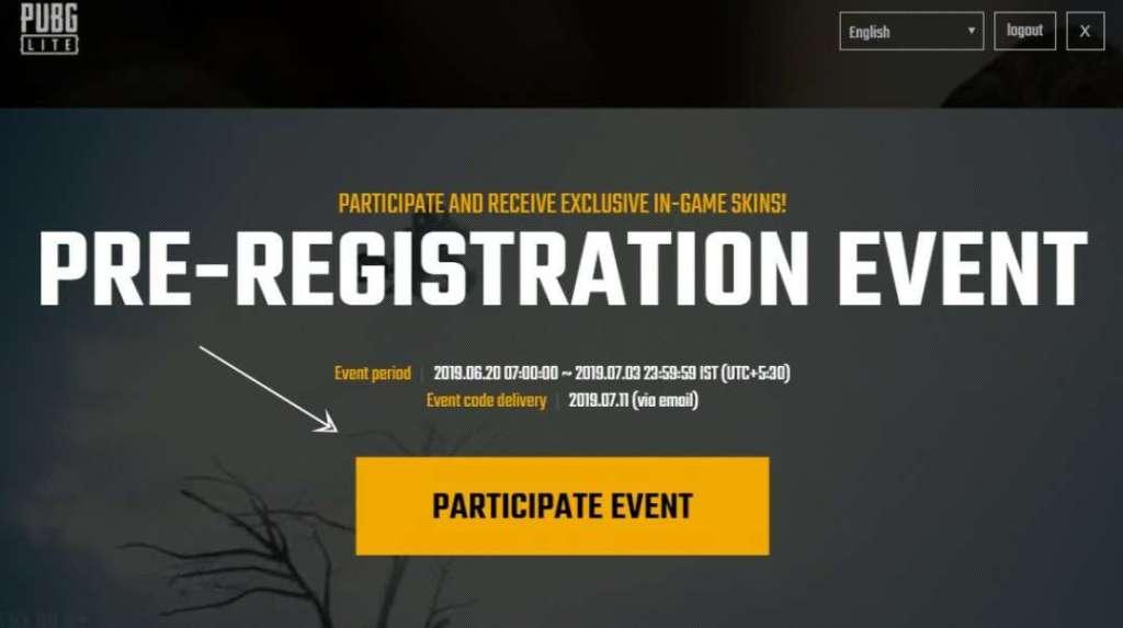 PUBG Lite Pre-Registration