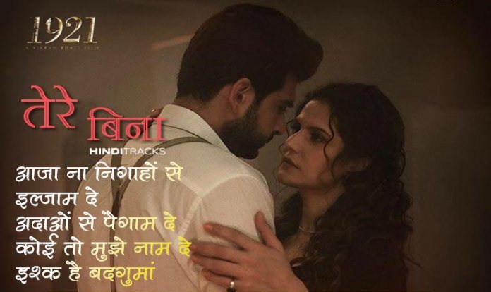 Tere Bina Hindi Lyrics