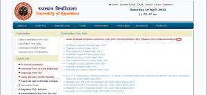 Rajasthan-University-Time-Table-2021