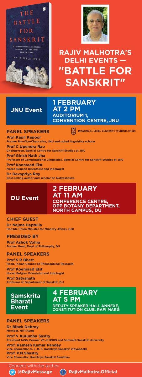 Delhi discussion events for 'Battle For Sanskrit'