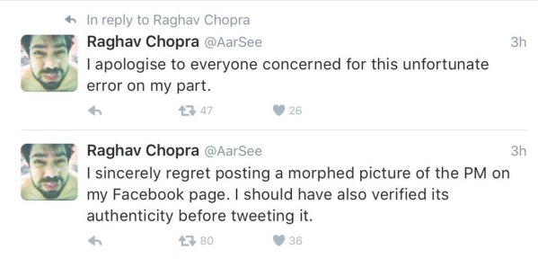 Raghav Chopra apology