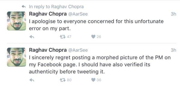Raghav Chopra apology