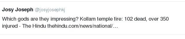 #KollamTempleFire Journalists Offesnive Tweet