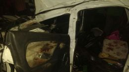 Car crushed in Amravati by cow smugglers