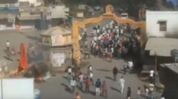 Stone Pelting on Hanuman Jayanti