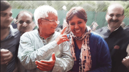 Lalu with Barkha