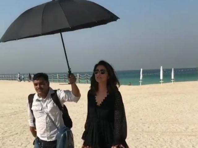 Parineeti Chopra Posted Video Of Man Holding Her Umbrella