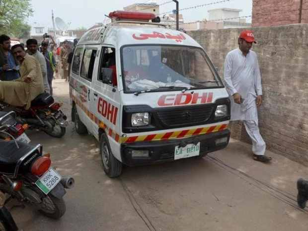 An ambulance carries the body of social media celebrity Qandeel Baloch who was strangled in a case of 'honour killing' in Multan, Pakistan. (Reuters)
