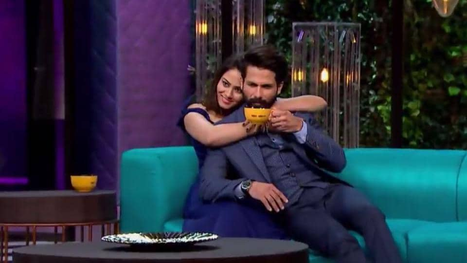 Image result for shahid and mira on koffee with karan