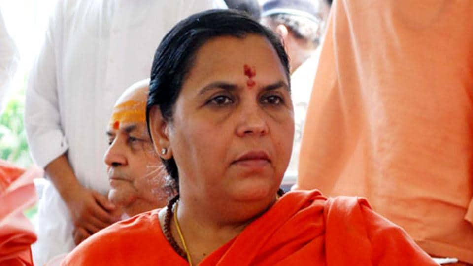 Uma Bharti saved from cabinet axing by RSS say sources