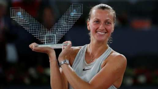 Image result for Petra Kvitova won the third Madrid Open title
