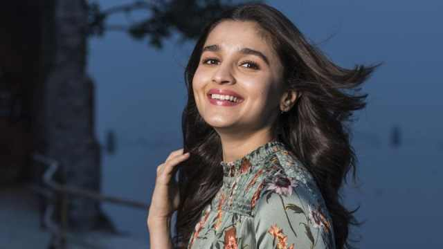 Alia Bhatt during a photoshoot at Mukesh Mills in Colaba on December 18, 2017 in Mumbai.