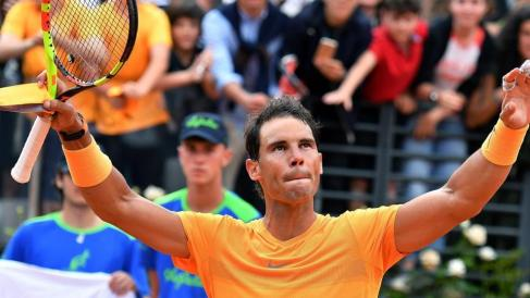 Image result for Rafael Nadal has won the 2018 Italian Open tennis tournament