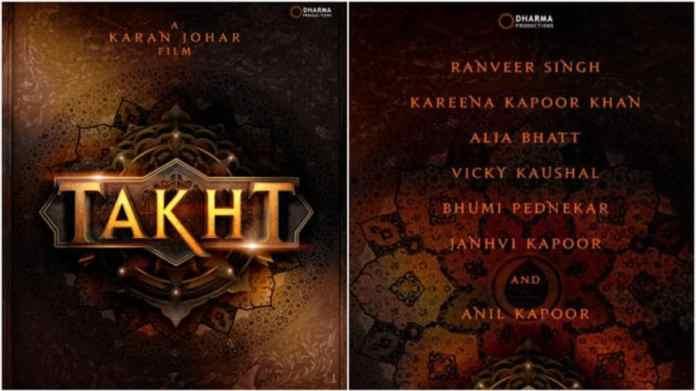 Upcoming Bollywood movies Takht