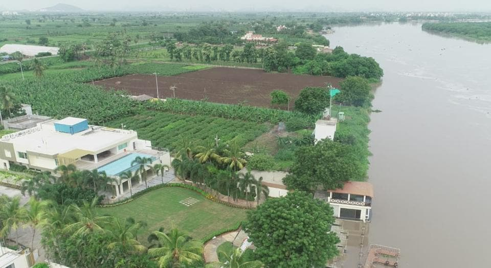 Chandrababu Naidu S Riverfront House In Amaravati Faces