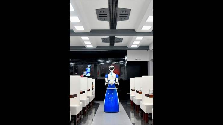 The robots are programmed to work efficiently and the staff has also undergone training from the manufacturers to attend to any issues that may arise over the course of operations. While the restaurant holds a unique appeal with its robot servers, it also lends a glimpse into one possible future for hospitality businesses and the mechanization of workforces.  (Manjunath Kiran / AFP)