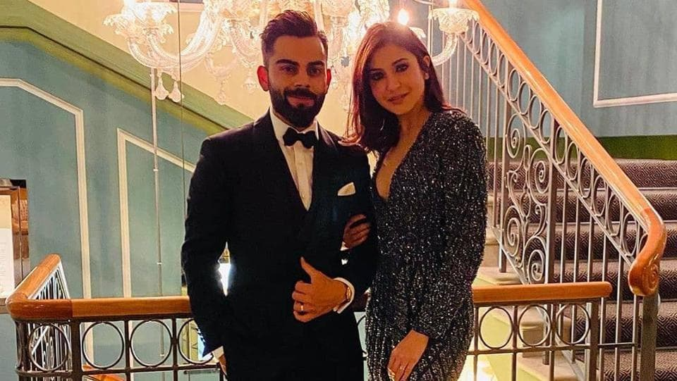 Anushka Sharma looked gorgeous in an overlap beaded interstellar gown by Rohit Gandhi and Rahul Khanna, and she looked absolutely stunning in the sequinned grey number. Her short hair was neat as always and sported heavy eye make-up along with strappy heels. Virat also went for a tuxedo and was looking perfect standing next to Anushka. (INSTAGRAM)
