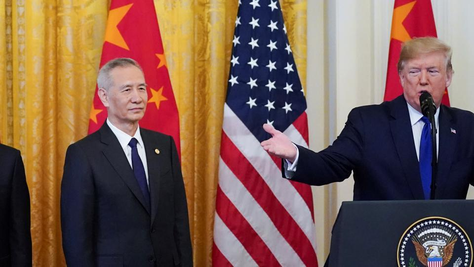 After a bruising trade war. Donald Trump says Sino-US deal is 'momentous' - business news - Hindustan Times