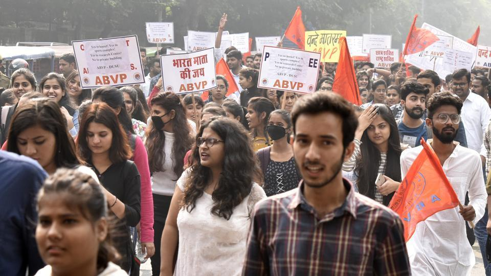 In a first. ABVP fields candidates for Jadavpur University polls - education - Hindustan Times