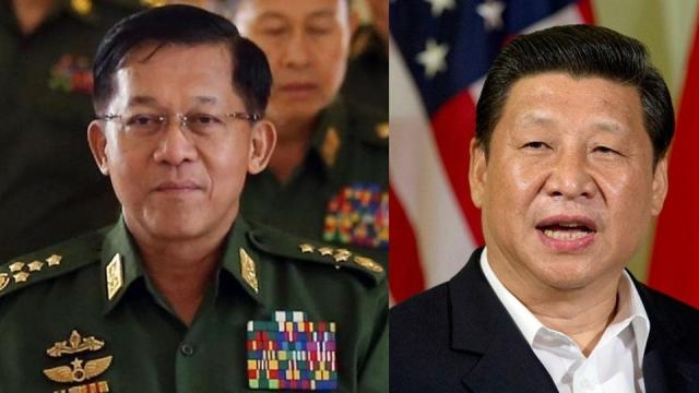 Myanmar's Senior General Min Aung Hlaing spoke about 'strong forces' that are backing terror outfits in his country, a reference to China