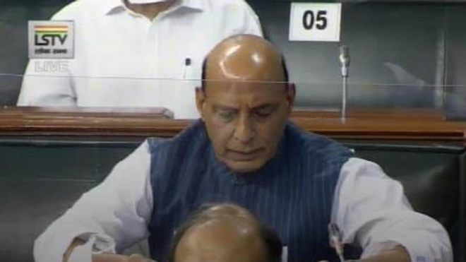 Defence minister Rajnath Singh addressed the Lok Sabha on the India China border issue.